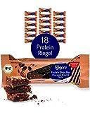 Veganz BIO Protein Choc Bar Chocolate Brownie Style - Eiweißriegel Vegan Proteinreich Schokoladig - 18 Vegane Proteinriegel je 50g