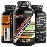 Ashwagandha Triple Extrakt Komplex - Premium: Ultra hochdosiert mit 1520 mg - Shoden®...