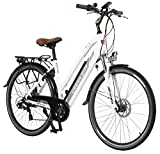 AsVIVA E-Bike 28' Trekkingrad, CityBike Tiefeinsteiger (14,5Ah Samsung Akku), 7 Gang Shimano...