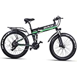 GUNAI Fettreifen Fahrrad 26 Zoll Elektro Fahrrad 1000 Watt 48 V Schnee e-Bike 21 Geschwindigkeiten...
