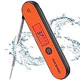 Inkbird Fleischthermometer, USB Wiederaufladbar Digital Fleischthermometer IHT-1P, IPX5 Wasserfest...