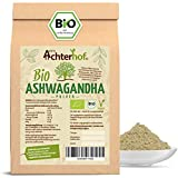Ashwagandha Pulver BIO (500g) | 100% ECHTE Ashwagandhawurzel gemahlen aus Indien | indischer Ginseng...