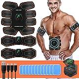 SUNGYIN EMS Muskelstimulator bauchtrainer ABS Trainingsgerät Professionelle USB Elektrostimulation...
