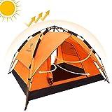 CAMEL wasserdichte Campingzelte 2-3 Personen Doppelschicht Kuppelzelt Automatische Instant Pop Up...