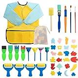 Surplex 42 Stücke Schwamm Malerei Pinsel Stempel Pinsel Set für Kinder, Kinder Früherziehung...