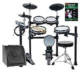 XDrum DD-530 Mesh Heads E-Drum LIVE SET mit Drum-Monitor und Hocker (elektronisches Schlagzeug,...