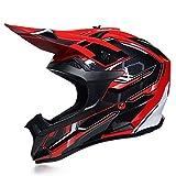 NNYY Motocross-Helm für Erwachsene, Motocross-Helm mit Gläsern, Handschuhen, Motocross, BMX,...