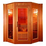 XXXL Luxus Finnische Sauna SET Sauna inkl. Harvia Saunaofen Modell 2021 5 Pers. inkl. Spedition