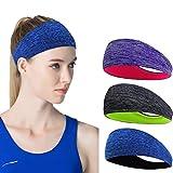 Linlook Sport Stirnband für Damen - Schweißband Anti Rutsch für Jogging, Laufen, Wandern,...