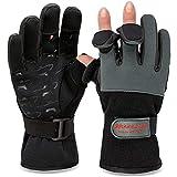 Angelhandschuhe Fishing Gloves Neopren Handschuhe Angeln Grau/Schwarz 3XL