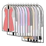 12 Stück Transparente Kleidersack Kleiderhüllen Abdeckung mit Reißverschluss,...