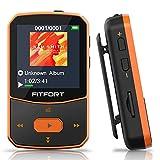 MP3 Player Bluetooth 5.0 Sport 16GB- Verlustfreier Sound FM Radio,Sprachaufzeichnung,E-Book und...