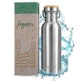 freigeist Edelstahl Trinkflasche 750ml einwandig | Outdoor Edelstahl Wasserflasche Kohlensäure...