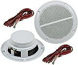 Aussen Lautsprecher 5' 127mm 80Watt PAAR Einbaulautsprecher für Wand & Decke Marine-Lautsprecher...