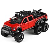 Xolye 6-Rad-Stoßdämpfende Spielzeugauto Alloy Anti-Drop-Ton und Licht-Spielzeug-Auto kann die Tür...