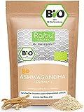 Raibu® Ashwagandha Premium BIO Pulver (250g)   100% ECHTE Ashwagandha Pulver   Indischer Ginseng...