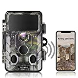 TOGUARD WLAN Bluetooth Wildkamera 20MP 1296P Video Jagdkamera mit 120 ° Überwachungswinkel...
