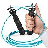 STRONGEAR Premium Springseil - Jump Rope mit Tasche + Quick Starter Guide - Zwei verstellbare Seile...
