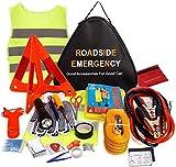 76 in 1 Kfz Pannenset Verbandskasten Auto Notfall Werkzeug Set Pannenhilfe Set Sicherheit Kit mit...