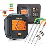 Inkbird Grillthermometer , Grillthermometer Wlan IBBQ-4T mit IPX3 Spritzfest, WiFi...