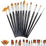 Doutop Pinselset Künstler Malen Pinsel Set Aquarell Acryl Flachpinsel Ölmalpinsel für Malerei...