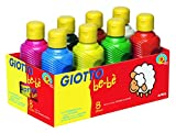 GIOTTO be-bè F532000: Temperafarben-Set für Kinder - 250 ml - mit 8 Farben - direkt malfertig -...