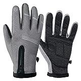 HIKENTURE Fahrradhandschuhe |Warme Winddichte rutschfeste MTB-Handschuhe mit...