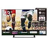 Hisense 43AE7200F 108 cm (43 Zoll) Fernseher (4K Ultra HD, HDR, Triple Tuner DVB-C/ S/ S2/ T/ T2,...