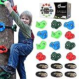 Odoland Ninja Line Tree Climbers 12 Klettergriffe mit 6 robusten Ratschen und Gurten für die...