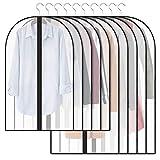 Qisiewell Kleidersack 10 Stücke (5M 60x100cm+5L 60x120cm) Kleiderhülle Anzughülle -...