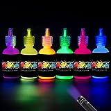 [6 x 28ml] iLC UV-Licht Bodypainting Schminke Schwarzlicht Körperfarbe für Body und Facepainting...