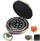 Charminer Kompass Outdoor,Premium Portable Messingkompass Klassischer Sprungdeckel Wasserdichter...