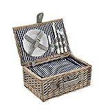 casa.pro Picknickkorb für 2 Personen Picknick-Set mit Kühltasche inkl. Geschirr Besteck...