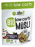 JabuVit Low-Carb Bio Müsli - dein Müsli mit wenig Kohlenhydraten und nur ca. 5% Zucker, reich an...