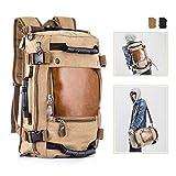 Overmont Vintage Herren Rucksack Multifunktionale Tasche für Reise Camping Wandern Ausflug Outdoor...