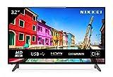 NIKKEI NH3214 81 cm/ 32 Zoll Fernseher (HD Ready, 1366 x 768, 1x SCART, 3X HDMI, 2X USB, VESA 200 x...