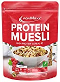 IronMaxx Protein Müsli Veganes Eiweißmüsli laktosefrei, Geschmack Schokolade, 550 g Beutel (1er...