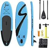 streakboard Sup Board, aufblasbares Stand Up Paddle mit rutschfestes Deck, 6 Zoll Dick, Stand Up...