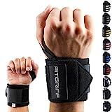 Fitgriff® Handgelenk Bandagen [Wrist Wraps] 45cm Handgelenkbandage für Fitness, Bodybuilding,...