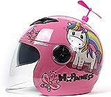 Motorrad Half Helme, niedlichen Motorrad Helm für Kinder HD Sonnenvisier Winddicht Atmungsaktiv...