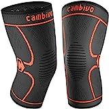 CAMBIVO 2 x Kniebandage Damen und Herren, Knieschoner, Kniestützer für Laufen, Wandern, Joggen,...