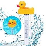 Renfox Schwimmende Wasserthermometer, Pool Thermometer, Entenform Schwimmbadthermometer...