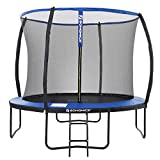 SONGMICS Trampolin Ø 305 cm, rundes Gartentrampolin mit Sicherheitsnetz, mit Leiter und...