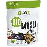 JabuVit Low-Sugar Bio Müsli - dein Müsli mit wenig Kohlenhydraten und nur ca. 5% Zucker, reich an...