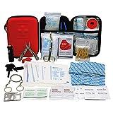 TRSCIND Erste-Hilfe-Set mit 2 Stück Einweg OP-Maske, Survival Kit Set mit Taschenlampe Feuerstahl...