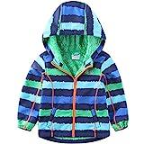 umkaumka Softshell Jacke für Kinder Fleece gefüttert mit Kapuze Gr.110, Softshelljacke Jungen...