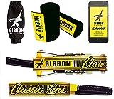 Gibbon Slacklines Classic Line mit Treewear, Gelb, 15 Meter (12,5m Band + 2,5m Ratschenband),...