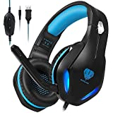 Stynice Gaming Headset - 50mm Treiber Crystal Clear Surround Sound Over Ear Gaming Kopfhörer mit...