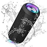 Ortizan Bluetooth Lautsprecher mit Buntem LED-Licht, Tragbarer Mini Bluetooth Box mit...