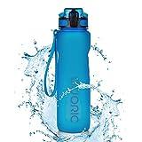 Adoric Sport Trinkflasche, [BPA Frei Tritan] 1L Auslaufsicher Kunststoff Wasserflasche Sport,...